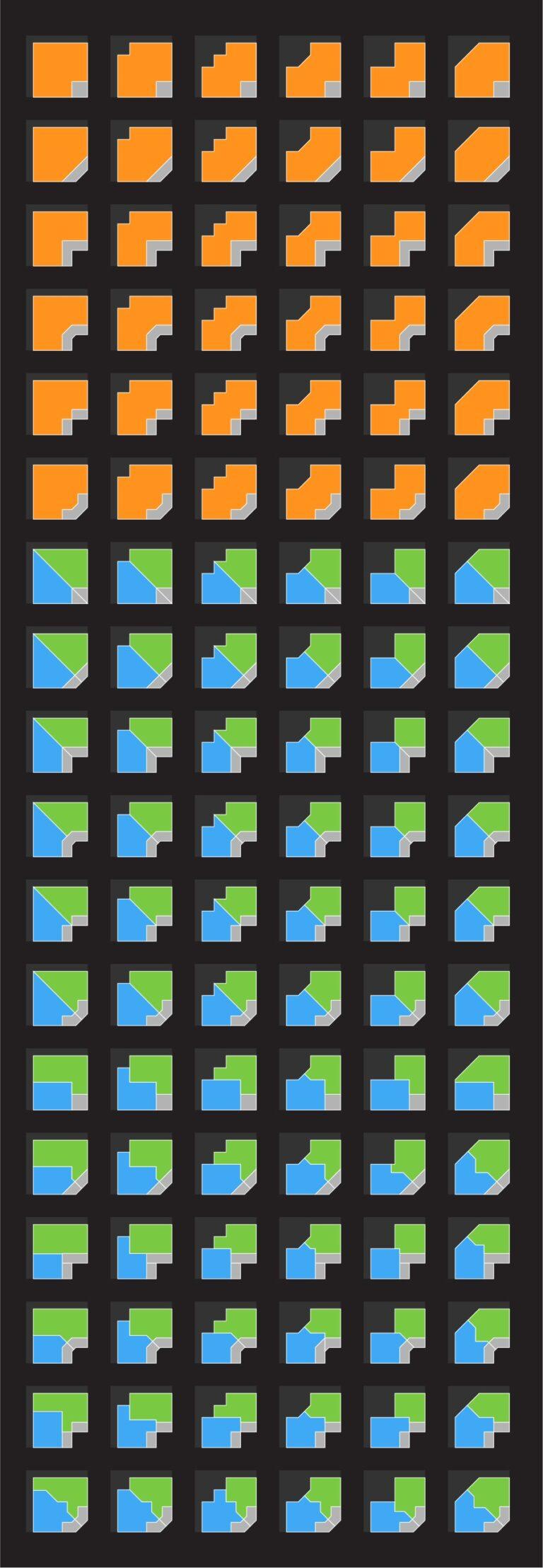 customize geometric viability inside corner units with TestFit