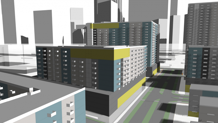 TestFit's generative design platform can be used to prototype building, parking, site and urban configurations based on real-world variables
